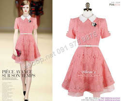 Ảnh số 37: B153 - Váy liền ren Hàn Quốc dáng xòe - Giá: 1.860.000