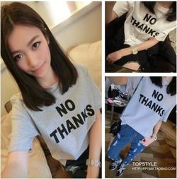 Ảnh số 73: Áo phông No Thanks - Giá: 125.000