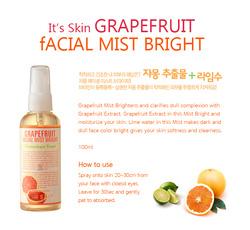 Ảnh số 13: XỊT KHOÁNG GRAPEFRUIT FACIAL MIST BRIGHT ITS SKIN (HÀNG CHÍNH HÃNG KOREA) - Giá: 120.000