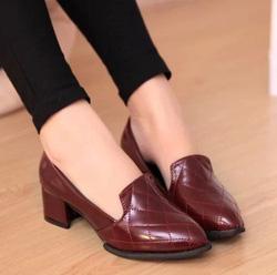 Ảnh số 67: Giày cao gót vans ca rô - Giá: 260.000