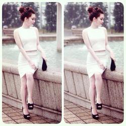 Ảnh số 35: Set áo croptop+ chân váy but chi:300k( đen, trắng, hồng - Giá: 300.000