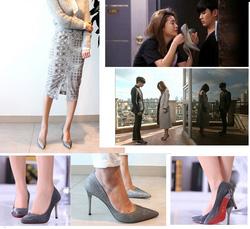 Ảnh số 4: Giày cao gót mũi nhọn kim tuyến Chun Song Yi 290k - Giá: 290.000