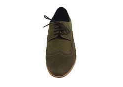 Ảnh số 1: Giày tây nam Zapatos da sáp đục lỗ màu xanh rêu (KT-500) - Giá: 899.000