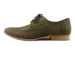 Ảnh số 3: Giày tây nam Zapatos da sáp đục lỗ màu xanh rêu (KT-500) - Giá: 899.000