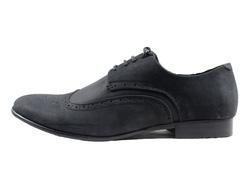 Ảnh số 9: Giày tây nam Zapatos da sáp đục lỗ màu đen (KT-500) - Giá: 899.000