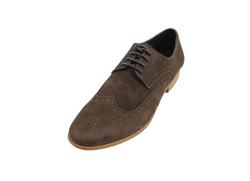Ảnh số 10: Giày tây nam Zapatos da sáp đục lỗ màu nâu (KT-500) - Giá: 899.000