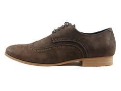 Ảnh số 12: Giày tây nam Zapatos da sáp đục lỗ màu nâu (KT-500) - Giá: 899.000