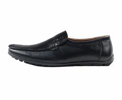 Ảnh số 20: Giày lười da trơn mũi tròn màu đen (XQ-07) - Giá: 599.000