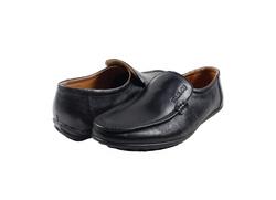 Ảnh số 21: Giày lười da trơn mũi tròn màu đen (XQ-07) - Giá: 599.000