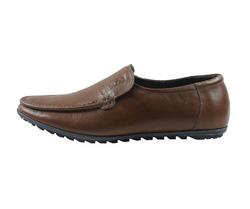 Ảnh số 22: Giày lười da trơn mũi tròn màu nâu (XQ-07) - Giá: 599.000