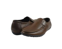 Ảnh số 23: Giày lười da trơn mũi tròn màu nâu (XQ-07) - Giá: 599.000