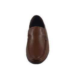 Ảnh số 24: Giày lười da trơn mũi tròn màu nâu (XQ-07) - Giá: 599.000
