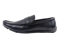 Ảnh số 26: Giày lười da trơn quai ngang màu đen (XQ-06) - Giá: 599.000