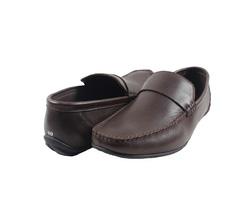 Ảnh số 28: Giày lười da trơn quai ngang màu nâu (XQ-06) - Giá: 599.000