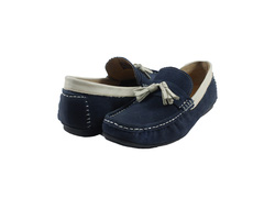 Ảnh số 31: Giày lười nam Zatoli da lộn chuông màu xanh (6491) - Giá: 699.000