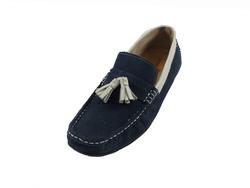 Ảnh số 32: Giày lười nam Zatoli da lộn chuông màu xanh (6491) - Giá: 699.000