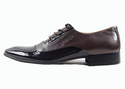 Ảnh số 38: Giày tây nam Zatoli mũi bóng màu nâu (Q-06) - Giá: 599.000