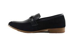 Ảnh số 71: Giày nam Sanvado lười pha da lộn màu đen (KT-303) - Giá: 649.000