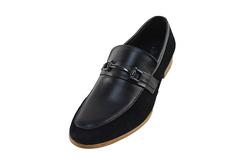 Ảnh số 26: Giày nam Sanvado lười pha da lộn màu đen (KT-303) - Giá: 649.000