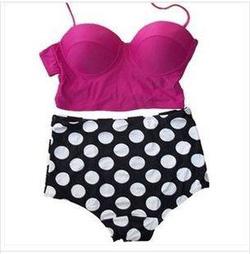 Ảnh số 15: Bikini Cạp cao áo croptop - Giá: 250.000