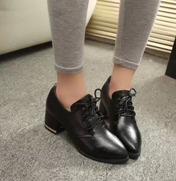 Ảnh số 62: Giày Oxford mũi nhọn đế kim loại OF17 - Giá: 240.000