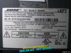 Ảnh số 39: Loa Bose 701 SERIES II - Giá: 15.500.000