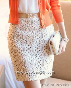 Ảnh số 7: Chân váy ren Hàn Quốc 24655 - Giá: 1.100.000