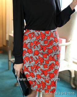 Ảnh số 15: Chân váy họa tiết Hàn Quốc SA14SK03 - Giá: 1.220.000