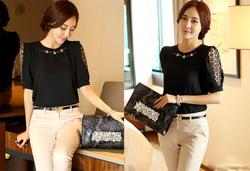 Ảnh số 83: SM926: White, Peach Pink, Mint, Black/ F - Áo sơ mi nữ công sở Hàn Quốc - Giá: 1.260.000