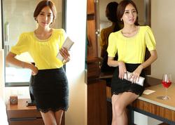 Ảnh số 78: SM930: White, Yellow/ F - Áo sơ mi nữ công sở Hàn Quốc - Giá: 1.320.000