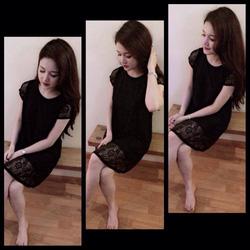 Ảnh số 20: váy ren cộc tay xuông có 2 màu đen ,đỏ .giá:280k - Giá: 280.000