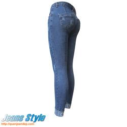 Ảnh số 8: Quần jean nữ cạp cao D&G 3306 - Giá: 360.000