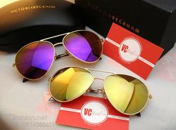 Ảnh số 11: Victoria Beckham- Gọng Vàng mắt tráng gương màu (Tím đỏ , Vàng ) - Giá: 700.000