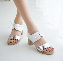 Ảnh số 63: Giày sandals đế gỗ kim loại - Giá: 240.000