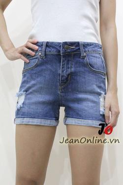 Ảnh số 47: Short jean nữ rách - M6054. Size 1, 3, 5, 7 - Giá: 195.000