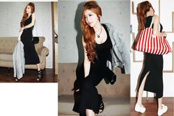 Ảnh số 78: váy maxi thun cotton - Giá: 260.000
