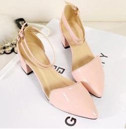 Ảnh số 83: Giày cao gót mũi nhọn khóa 2 dây - Giá: 250.000