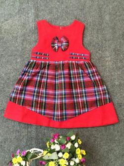 Ảnh số 86: Váy dạ kẻ phối màu - Giá: 10.000