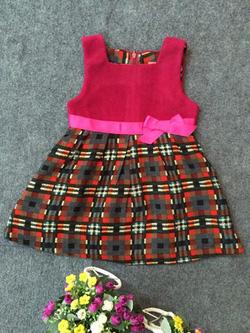 Ảnh số 91: Váy dạ kẻ nơ eo - Giá: 10.000