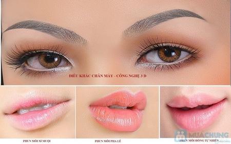 Phun thêu lông mày dáng ngang Hàn quốc, phun eye liner không đau, bắn màu chống thâm môi , nhũ hoa , phun môi pha lê , Ảnh số 8