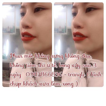 Phun thêu lông mày dáng ngang Hàn quốc, phun eye liner không đau, bắn màu chống thâm môi , nhũ hoa , phun môi pha lê , Ảnh số 31105527