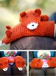 Găng tay len móc handmade hình cáo cam