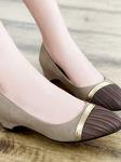 Phong cách thời trang công sở với Giầy đế thấp, giầy bệt nữ Hàn Quốc