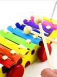 Đàn gỗ 8 phím Đồ Rê Mí sắc màu sinh động, đàn gỗ học đếm và cảm thụ âm thanh cho bé