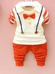 Bộ quần áo thu đông Hình thú, kẻ sọc, Hình mèo đáng yêu cho bé trai Thu đông 2014