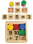 Bộ học toán bằng gỗ thông tự nhiên thông minh