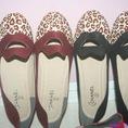 Giày búp bê đôi môi phối beo sành điệu Shop 123yeah