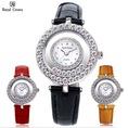 Đồng hồ Chính Hãng Royal Crown được đính đá Swarovski chiếu lấp lánh....