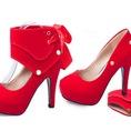 Giày cao gót tạo 2 kiểu, tiện lợi, thời trang, da đẹp và bền.