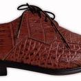 Giày nam cá sấu Hoa Cà, chất lượng, sang trọng, bảo hành 3 năm.
